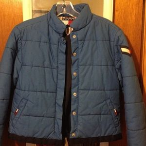 Tommy juniors/ petite down jacket. Bomber style